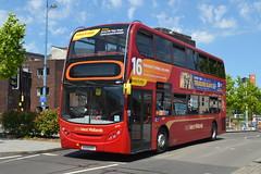 TWM AD Enviro 400 4807 BX09PFF - Birmingham (dwb transport photos) Tags: nationalexpress travelwestmidlands alexander dennis enviro bus decker 4807 bx09pff birmingham