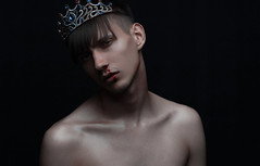 THE CURSED KING (ruslan_isinev) Tags: gay boy portrait people snow man black male art face photography model eyes nikon flickr mood alone shadows darkness emotion unique fineart fine gray creative young deep human concept conceptual emotions flikr maleportrait nikorr fineartportrait d700 nikond700 nikonflickraward