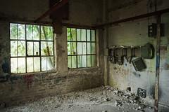 Decaying car repair shop (Helena Normark) Tags: norway norge garage urbandecay trondheim srtrndelag a7 urbex oldcarrepairshop carlzeissdistagont28mmf28 sonyalpha7 cy28mm28 decayingcarrepairshop