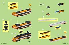 Tiny LEGO Wonders - TGV Bullet Train (drdavewatford) Tags: legobook microscale nostarchpress horizonexpress 10233