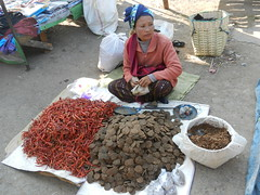 Kalaw (simo2582) Tags: people asian asia burmese shanstate shan birma birmania burma myanmar market kalaw human trade typical hilltribes tribes mountain hillstation village countryside travel reise blick unterwegs world traditional 5daysmarket groceries street woman sitting