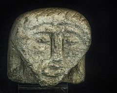 A primitive stone head recovered in the Oppidum d'Enserune 6th -3rd century BCE (?) (mharrsch) Tags: head stone primitive 5thcenturybce 4thcenturybce 3rdcenturybce enserune oppidumdenserune archaeology archaeologicalsite celt fort hilltopfort oppidum france languedoc mharrsch