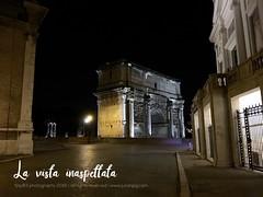 Una vista inaspettata. (FJAY8356 ) Tags: roma foriimperiali arcodisettimioseverio