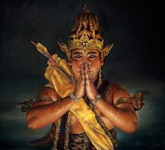 Meditation: Ramayana Dancer (melissaenderle) Tags: indonesia portrait dance pastel dancer ramayana prambanan traditionalcostume