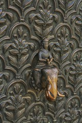 A Handle to Remember (Shreya's Labyrinth) Tags: doorhandle redfort travel india delhi