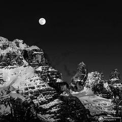 The Moon on Brenta Group. (da sx Punte di Campiglio, Torre di Brenta,Sfulmini, Campanile alto (Abboretti Massimiliano-Mountain,Street and Nature ) Tags: abboretti alps alpi dolomiti dolomites sonya7r2 sony madonnadicampiglio valrendena brenta moon anseladams
