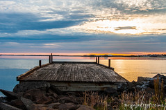Look to Borganes (Brynjar Hafsteins) Tags: nature iceland europe landscape water bridge sun sky clouds borganes beach stones evening beautiful outdoor tourist nikon d5000