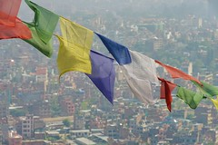 Prayer Flags above Kathmandu (Thicks Aside) Tags: prayer flag kathmandu colour