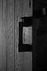 Handle On History (jrussell.1916) Tags: logcabin cabin doorway door doorhandle wood history greatsmokymountainsnationalpark tennessee blackwhite bw monochrome illuminated light canonefs1755f28is silhouette