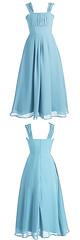 Flower girl dress (provencelavender) Tags: aline floorlength straps chiffon blue ruffled flower girl dress