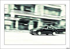 A dos velocidades (V- strom) Tags: portugal braga coche velocidad blanconegro virado nikon nikon2470 recuerdo texturas urbana luz