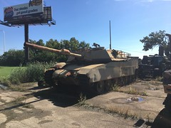 M1A1 Abrams (metraf40c) Tags: russel military museum tank humvee m113 us army jeep armored vehicles abandoned rusty apc illinois russian prototype zion usmc usaf guns weapons border patrol