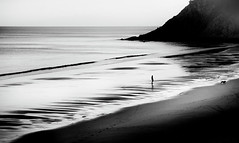 two at the beach... (ibo.h) Tags: sea beach sunset bw portugal algarve costavincentina