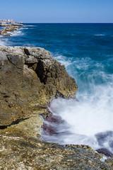 Tidal Flow, Ortigia, Syracuse (Luke Robinson) Tags: ocean longexposure italy blur landscape coast europe italia waves wave coastal syracuse sicily sicilia siracusa dropbox ortigia 2014