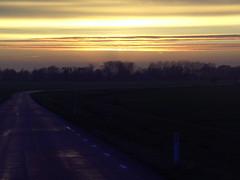 Getting dark early today (Davydutchy) Tags: road november autumn sunset sky holland netherlands evening abend zonsondergang skies herbst herfst avond lucht friesland hemel weg 2014 frysln langweer herbstabend langwar strase cloudsstormssunsetssunrises pontdyk