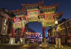 Imperial Arch Liverpool (alundisleyimages@gmail.com) Tags: longexposure building architecture night liverpool chinatown nightlights culture streetscene structure bluehour citycenter attraction imperialchinesearch