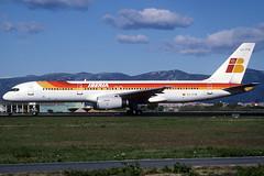 Iberia B757-256 EC-FYK BCN 13/04/1998 (jordi757) Tags: barcelona nikon airplanes bcn kodachrome boeing 757 f90x iberia kodachrome64 avions elprat b757 757200 lebl ecfyk