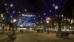 Sloane Square Christmas 2014b (ianwyliephoto) Tags: christmas london festive lights chelsea departmentstore johnlewis sloanesquare peterjones madeinchelsea