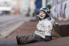 Hugo laughing at dad (Mikko Miettinen) Tags: boy child little outdoor young littleboy caucasian