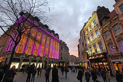 Rue de la Bourse - Lille (France) (Meteorry) Tags: christmas street winter sunset people france lights europe december purple façades centre hiver crowd center facades explore lille noël rue flemish nordpasdecalais nord vlaams 2014 vlaanderen rijsel flamand flandre meteorry joaillier ruenationale dinhvan ruedelabourse patriceperreux ruelepelletier ruedestroiscouronnes