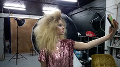 big big hair selfie (mrksaari) Tags: beauty umbrella finland hair phonecam studio blog big dish xl d1 b1 bts selfie 1520 profoto lumia silkki