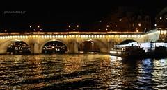 La Seine  Paris (louis.labbez) Tags: bridge light paris water station seine night river boat town eau lumire illumination rivire pont bateau nuit quai cruse ville fleuve bateaumouche rive croisire labbez