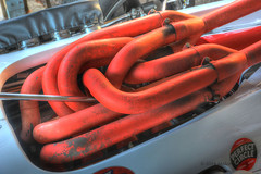 Hot Pipes - Goodwood Revival (1018-22) (Malcolm Bull) Tags: orange pipes goodwood exhaust include revival 20140914revival101819202122tonemappededited1web