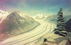 aletschgletscher (thomasw.) Tags: travel alps analog 35mm schweiz switzerland europa europe cross suisse suiza alpen expired wallis kb crossed aletschgletscher