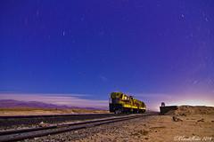 The midnight special (REscutiMuoz) Tags: train canon stars tren noche desert atacama desierto 2014 trazos vallenar strartrails ferronor