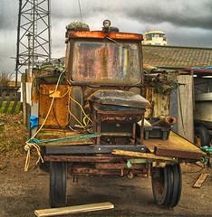 Bits n' pieces (foxxhusky) Tags: sea coastguard tractor fishing minimal retro wreck hdr mersey sefton boneshaker