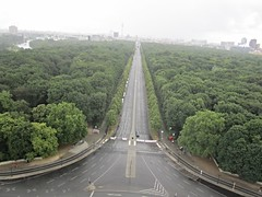 A view from Victory Column observation deck, Berlin (ali eminov) Tags: travel berlin germany landscapes scenery columns cities parks cityscapes views tiergarten victorycolumn