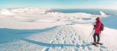 Iceland (a.penny) Tags: panorama snow island shoe iceland fuji glacier finepix snowshoeing gletscher snæfellsjökull snæfellsnes x10 hellnar schneeschuhe jokull apenny arnastapi schneeschuhwandern snæfellsbær