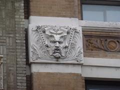 (TheMachineStops) Tags: nyc face ornaments architecturaldetails westvillage stonework architecture newyorkcity manhattan basrelief ornamentalart