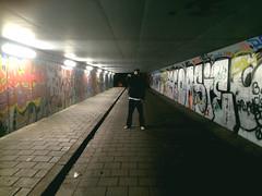 (Cris Martn) Tags: boy guy amsterdam graffiti painted tunnel pintadas chico tnel