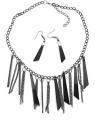 5th Avenue Black Necklace P2140A-5