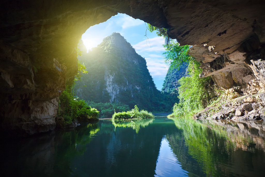 Vietnam Ninh Binh Trockene Halongbucht Tam Coc Nationalpark