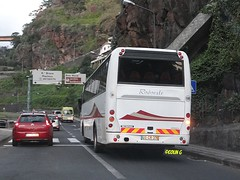 Atomic Scania (Coco of Jersey Bus & Coach driver) Tags: man bus portugal volvo coach camo atomic madeira funchal scania utic