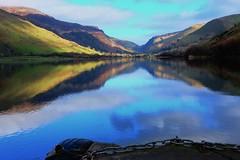 Talylyn Reflects (jayneboo) Tags: lake water wales reflections view gwynedd glacial odc 27mm talylyn llynmwyngil afavouritesight fujixe2