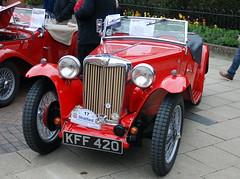MG TC, Stratford-upon-Avon Festival of Motoring 2016. (Roly-sisaphus) Tags: uk greatbritain england cars unitedkingdom gb warwickshire automobiles stratforduponavon midlands festivalofmotoring nikond802016dsc0583