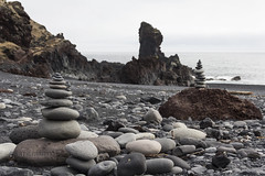 Djupalon Beach (JoshJackson84) Tags: sea beach iceland rocks europe towers pebbles snfellsnes snaefellsnes djpaln canon60d sigma18250mm