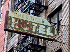 Chronicle Hotel, San Francisco, CA (Robby Virus) Tags: sanfrancisco california sign hotel rust ghost rusty faded signage chronicle