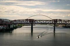 DSC_0143 (pillarsoflight) Tags: bridge blue sky cloud beauty clouds oregon river portland nikon crossing bluesky adobe pdx 1855 across pnw lightroom d3300
