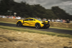 Mclaren P1 VP5 going up hill at Festival of Speed (Photocutout) Tags: cars racecar mclaren hybrid goodwood sportscars exotics supercars festivalofspeed 2015 hypercar vp5 photocutout worldcars hypercars mclarenp1