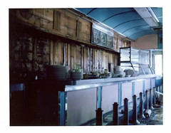 (.tom troutman.) Tags: abandoned film analog polaroid jerseycity fuji nj diner land instant 250 fp100c tunneldiner pullandpeel