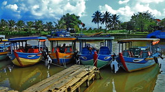 Hoi An Old Center (gerard eder) Tags: world travel b boats asia central boote an vietnam hoian southeast barcas hoi reise