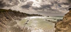 La Arnia (Jose Peral Merino) Tags: sea sky landscape atardecer mar agua stones paisaje cielo panoramica rocas cantabria acantilados liencres laarnia