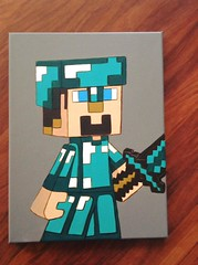 minecraft (rtmdesignsart) Tags: art kids artwork handmade painted awesome style wallart games canvas gifts giftideas ps4 minecraft