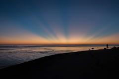 Those morning rays! (alexnettleton93) Tags: morning sunset sun beach water silhouette sunrise sand nikon flickr sydney australia amateur