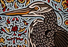 blue heron (Lisa Brawn) Tags: wood portrait calgary bird art birds illustration painting design graphics artist folkart wildlife canadian carving popart alberta woodcut woodcarving woodblock brawn reclaimed salvaged wildbirds upcycled lisabrawn birdsinart