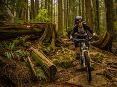 Upper Oilcan- Natasha (kendyck1) Tags: mountainbike northshore mtb northvancouver natasha fromme